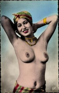 Ak Beauté arabe, Étude de Nu indigène, Araberin, Barbusig