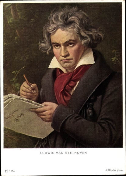 Künstler Ak Stieler, J., Komponist Ludwig van Beethoven, Ackermann 1654