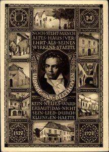 Ganzsachen Ak Ludwig van Beethoven, Deutscher Komponist, Wiener Klassik