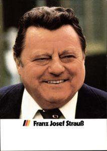 Ak Franz Josef Strauß, Politiker, CSU, Portrait