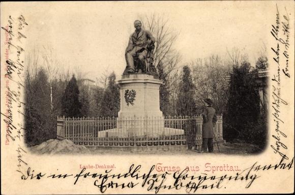 Ak Szprotawa Sprottau Schlesien, Laube Denkmal
