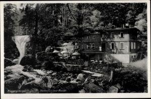 Ak Riesengebirge Schlesien, Kochelfall, Baude