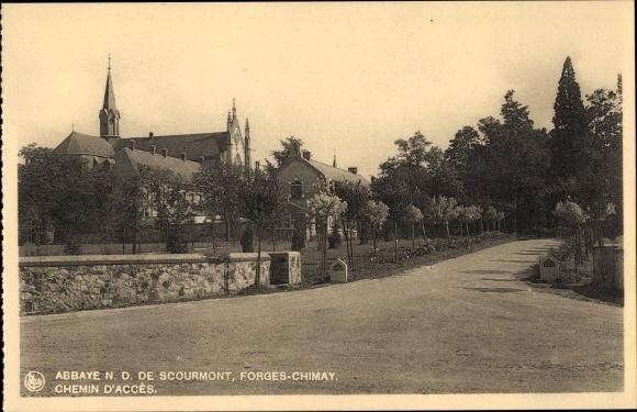 Ak Forges Chimay Wallonien Hennegau, Abbaye N. D. de Scourmont, Chemin d'Accès