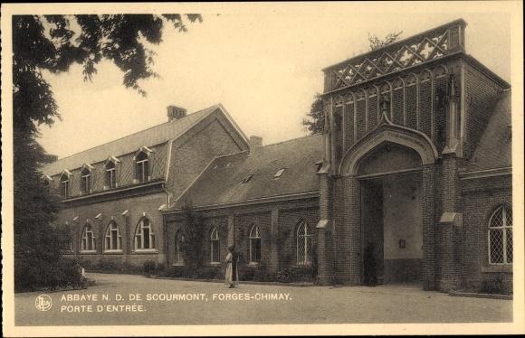 Ak Forges Chimay Wallonien Hennegau, Abbaye N. D. de Scourmont, Porte d'Entrée