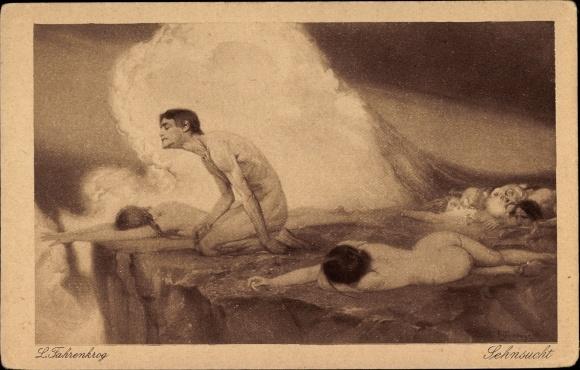 Künstler Ak Fahrenkrog, Ludwig, Sehnsucht, Allegorie