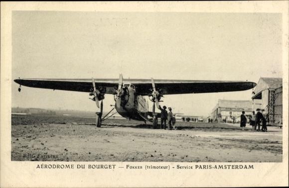 Ak Bourget Savoie, Aérodrome, Fokker, Service Paris Amsterdam
