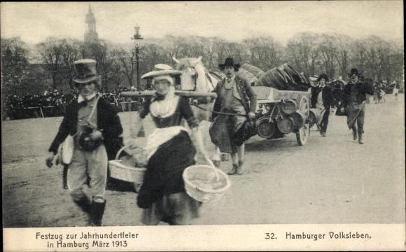 Ak Hamburg, Festzug zur Jahrhundertfeier 1913, Volksleben, Bierkutsche