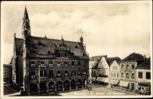 Ak Bocholt im Münsterland, Markt, Rathaus