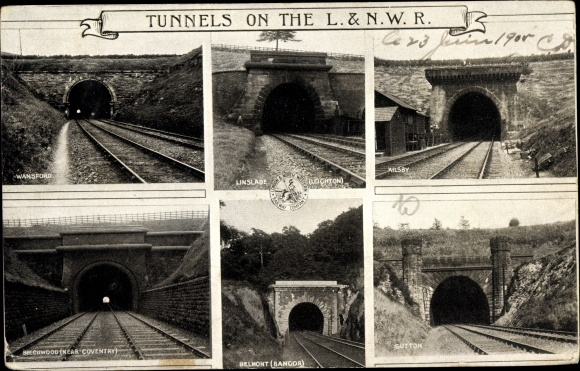 Ak London and North Western Railway, Tunnels, Wansford, Beechwood, Linslade, Belmont, Kilsby, Sutton