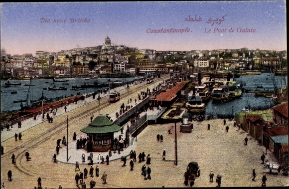 Ak Konstantinopel Istanbul Türkei, Le Pont de Galata, Brücke