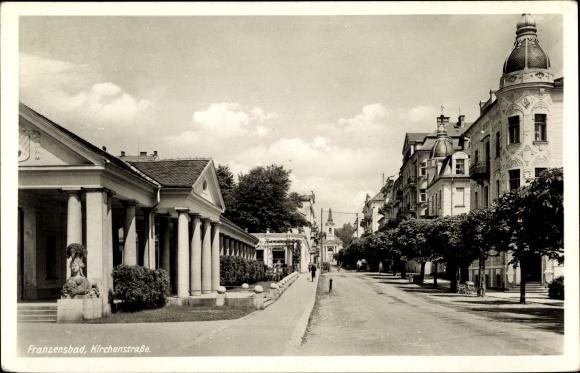 Ak Františkovy Lázně Franzensbad Reg. Karlsbad, Kirchenstraße