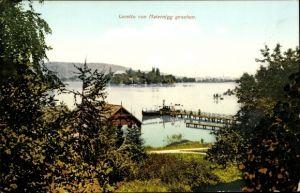 Ak Loretto im Burgenland, von Maiernigg gesehen, Seebrücke