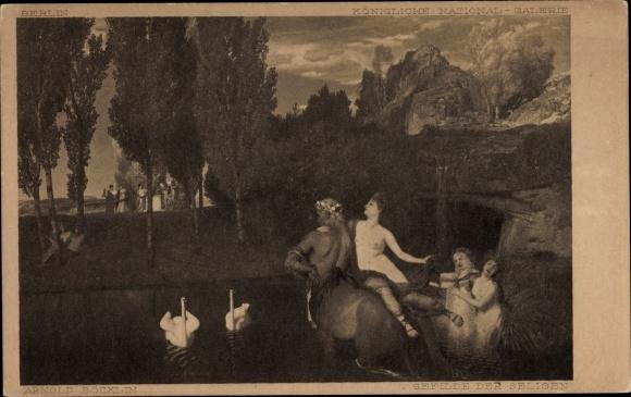 Künstler Ak Böcklin, Arnold, Gefilde der Seligen, Kentaur