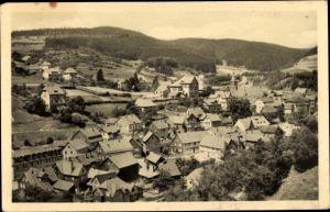 Ak Kleinschmalkalden Floh Seligenthal Thüringen, Totalansicht vom Ort