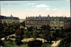 Ak Döbeln in Sachsen, Wettinplatz, Park