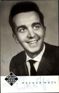 Ak Sänger Werner Hass, Portrait, Telefunken Schallplatten