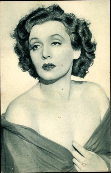 Ak Schauspielerin und Sängerin Zarah Leander, Portrait, Filmwelt