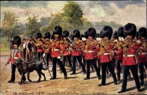 Künstler Ak Payne, Harry, The Irish Guards, Regimental pet Brian Boru, Tuck Military in London 3546D