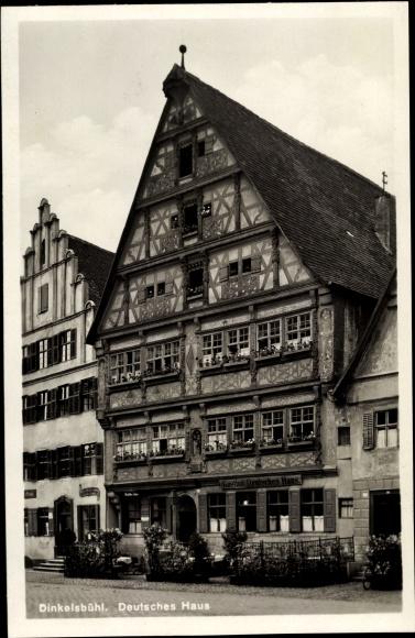 Ak Dinkelsbühl in Mittelfranken, Deutsches Haus, Gasthof