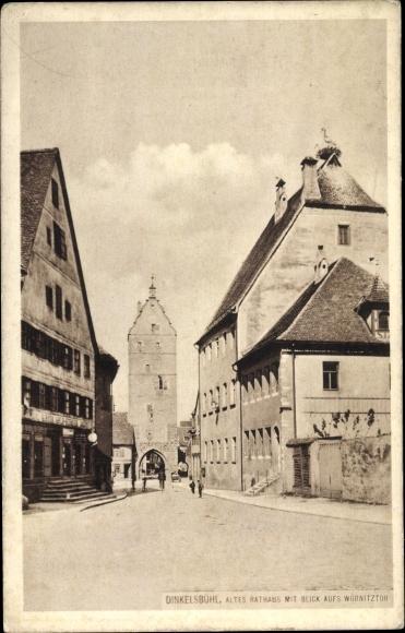 Ak Dinkelsbühl in Mittelfranken, Altes Rathaus, Wörnitztor