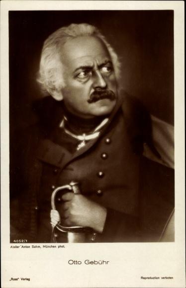 Ak Schauspieler Otto Gebühr, Portrait mit Schwert, Ross Verlag 4052 1