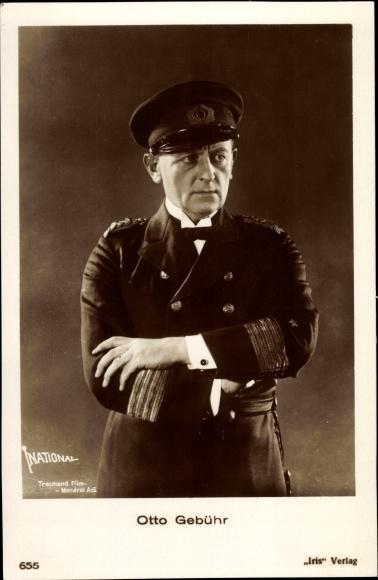 Ak Schauspieler Otto Gebühr, Portrait in Kapitänsuniform, Amag 655