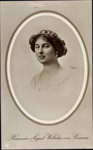 Passepartout Ak Alexandra Viktoria von Schleswig Holstein Sonderburg Glücksburg, NPG 4580