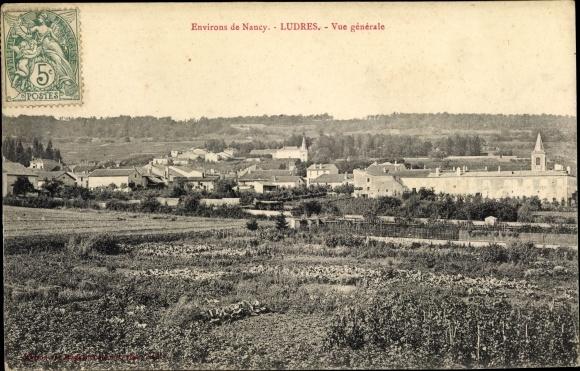 Ak Ludres Lothringen Meurthe et Moselle, Environs de Nancy, Vue générale