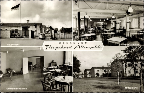 Ak Altenwalde Cuxhaven in Niedersachsen, Fliegerhorst, Hauptwache, Offizierskasino, Kantine, Radio