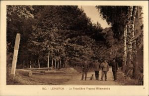 Ak Lembach Bas Rhin, La Frontière Franco Allemande, Deutsch Französische Grenze