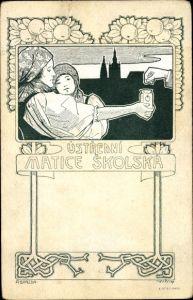 Künstler Ak Ustredni Matice Skolska, Tschechischer Schulverein, Sammlung