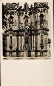 Ak Krzeszów Kamienna Góra Grüssau Schlesien, Blick auf die Klosterkirche von Westen