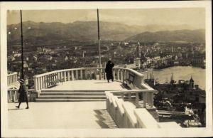Ak Split Kroatien, Pogled sa Setalista Dr. Racica, Blick auf den Ort, Berge