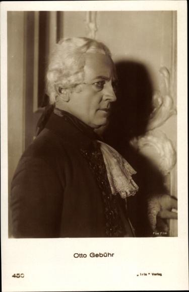 Ak Schauspieler Otto Gebühr, Portrait, Profilansicht, Amag 450