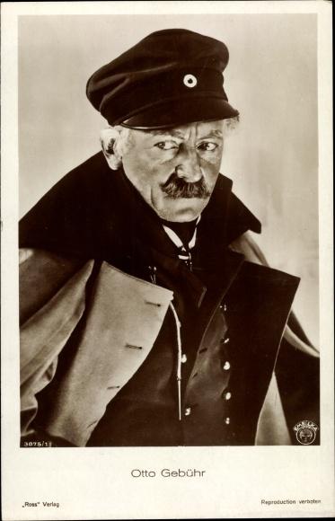 Ak Schauspieler Otto Gebühr, Portrait, Ross Verlag 3075 1