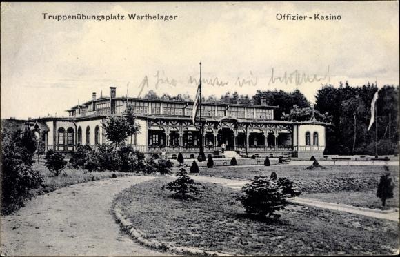Ak Poznań Posen, Truppenübungsplatz Warthelager, Offizierskasino