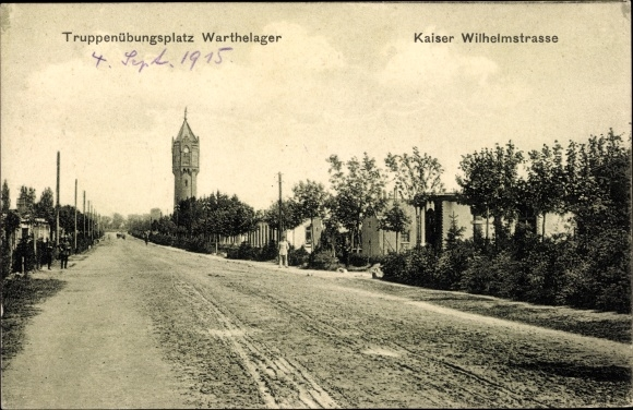 Ak Poznań Posen, Truppenübungsplatz Warthelager, Kaiser Wilhelmstraße