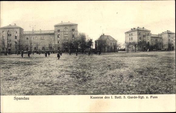 Ak Berlin Spandau, Kaserne des I. Batl. 5. Garde Regiments z. Fuß