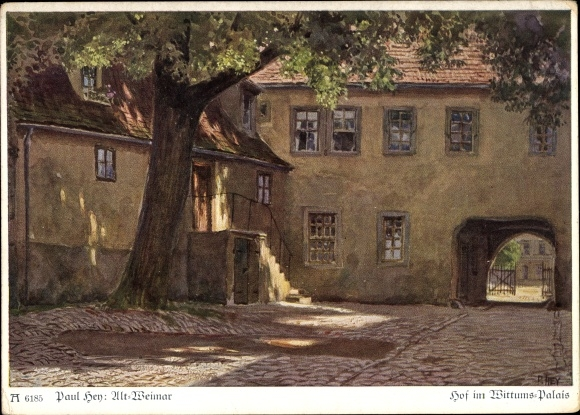 Künstler Ak Hey, Paul, Weimar in Thüringen, Hof im Wittumspalais, Ackermann 6185