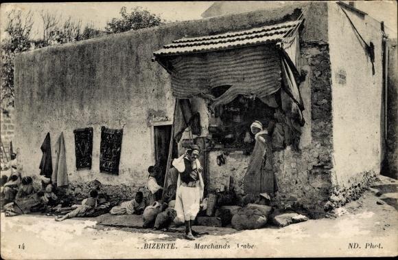 Ak Bizerte Tunesien, Marchands Arabe