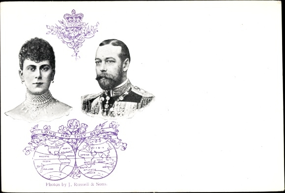 Ak King George V., König Georg V. von England, Mary of Teck