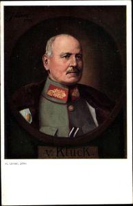 Künstler Ak Ulmer, H., Generaloberst Alexander von Kluck, Portrait, I. WK