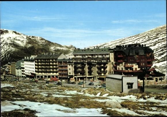 Ak Pas de la Casa Andorra, Vista desde les pistes d'esqui