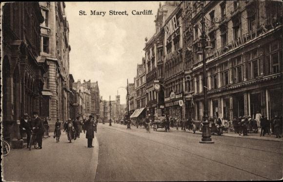 Ak Cardiff Wales, St. Mary Street