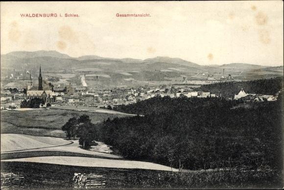 Ak Wałbrzych Waldenburg Schlesien, Gesamtansicht