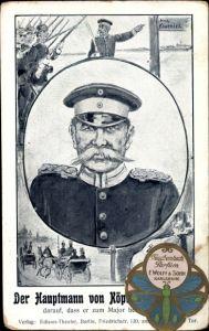 Künstler Ak Berlin Köpenick, Der Hauptmann von Köpenick, Portrait