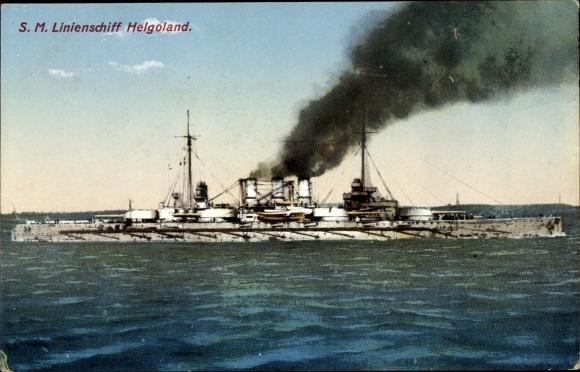 Ak Deutsches Kriegsschiff, Linienschiff SMS Helgoland, Kaiserliche Marine