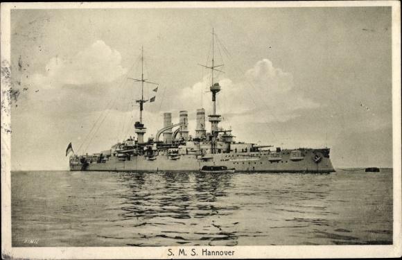 Ak Deutsches Kriegsschiff, SMS Hannover, Kaiserliche Marine
