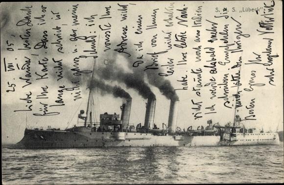 Ak Deutsches Kriegsschiff, SMS Lübeck, Kaiserliche Marine