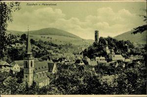 Ak Eppstein Taunus Hessen, Panorama vom Ort vom Malerwinkel aus